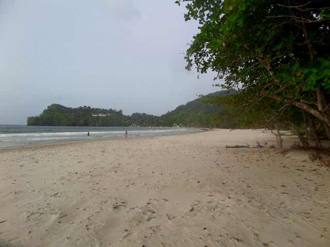 Las Cuevas Beach backpacking in trinidad and tobago