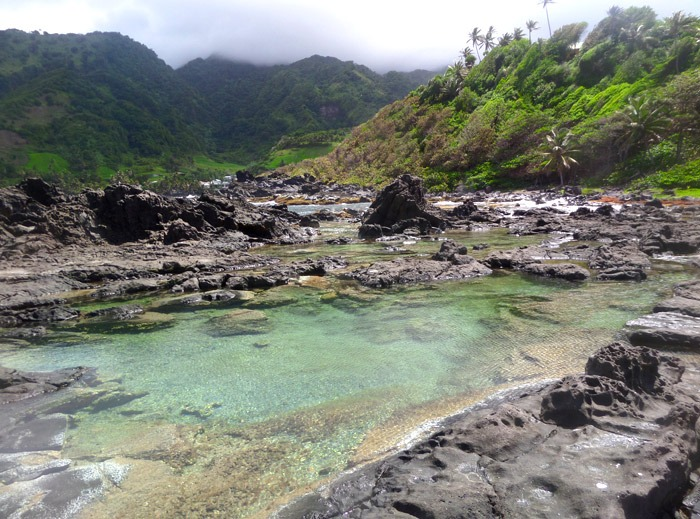 salt pond Backpacking in Saint Vincent and the Grenadines