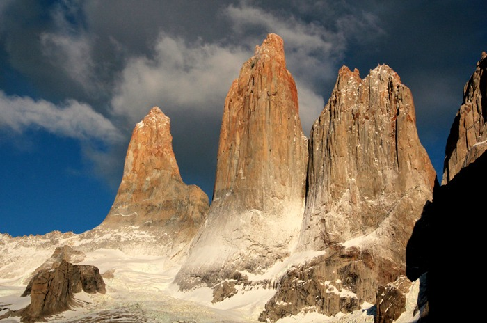sunrise Torres del Paine W Trek