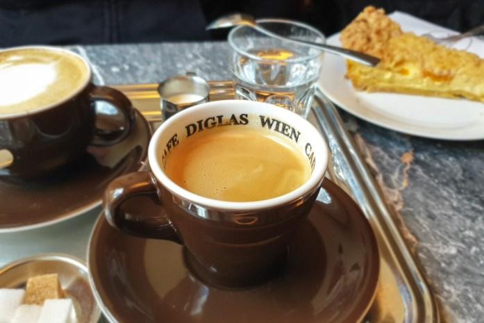 Cafe Diglas, Drinking Coffee in Vienna, Austria