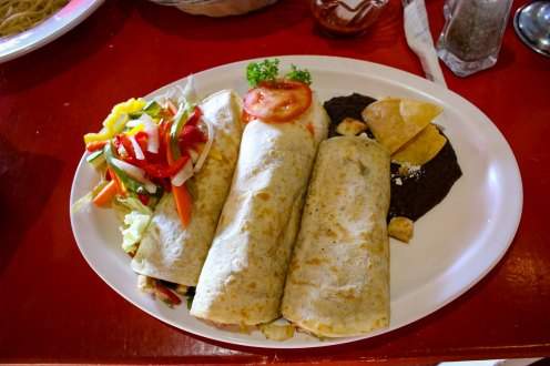 Burritos im Restaurant Nativo in Playa del Carmen