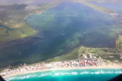 Cancun Beach aus der Luft