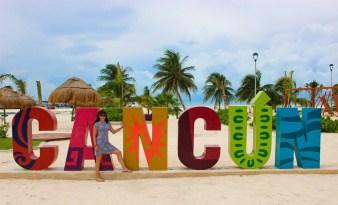 Cancun Sign Parque Playa Langosta