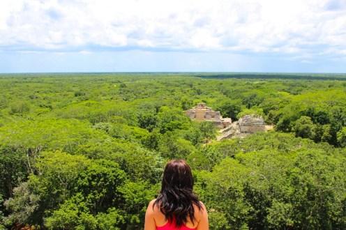 Aussicht von der Pyramide in Ek Balam