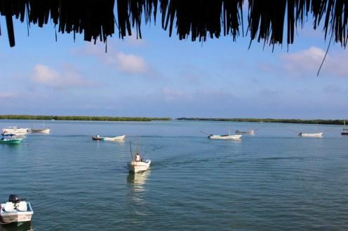 Fischerboote in Rio Lagartos