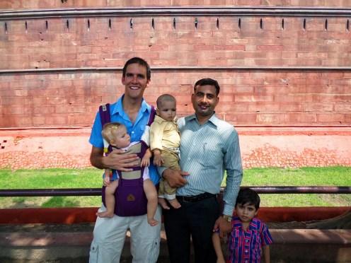 Indien Familie Fotos machen