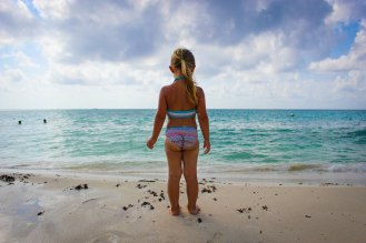 Auf dem Strand in Playa del Carmen