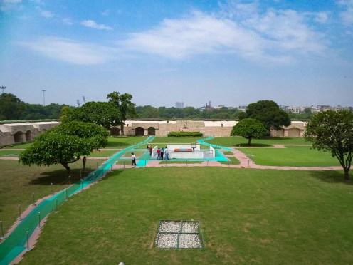 Raj Ghat Gandhi Denkmal Delhi
