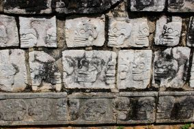 Wall Of Skulls Chichen Itza Tzompantli