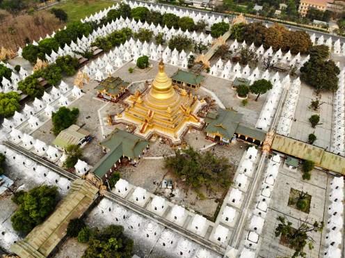 Kuthodaw Pagoda Drone Photo Mandalay