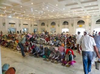 Mittagessen Sikh Tempel Delhi Küche