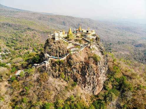 Mount Popa Myanmar Drone Photo