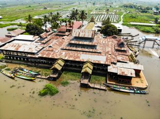 Nga-Phe-Kyaung-Kloster Inle See Drohne Foto