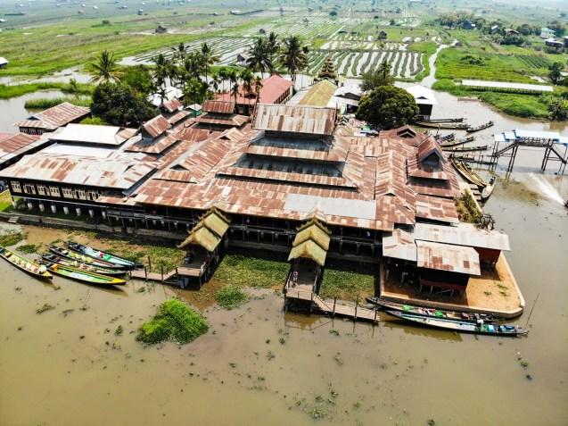 Nga-Phe-Kyaung-Kloster Inle See Drohne Foto