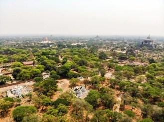 Tempel Alt-Bagan Luftaufnahme