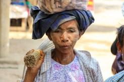 Alte Frau Myanmar