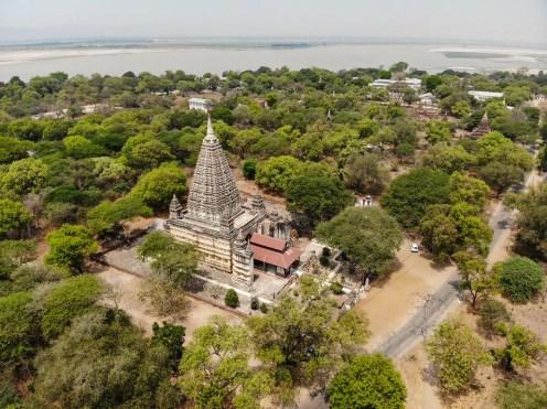 Mahabodhi Tempel aus der Luft