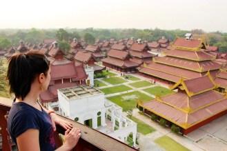 Mandalay Palace von oben