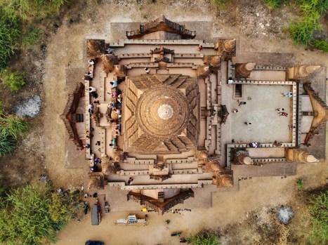 Pagoda 843 Bagan von oben