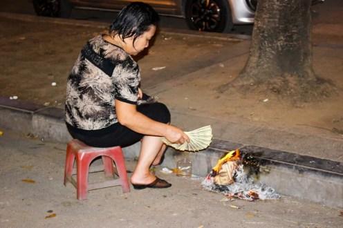 Burning Fake Banknotes Dollar Vietnam