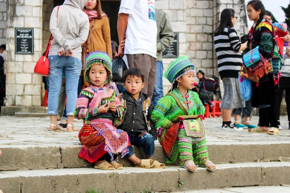 Hmong Kinder in Sapa