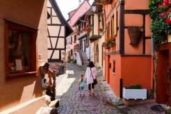 Mittelalterliche Häuser Elsass