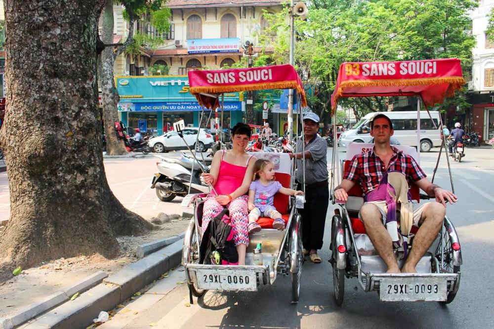 Rikschafahrt Hanoi Old Quarter