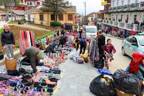 Straßenmarkt Sapa