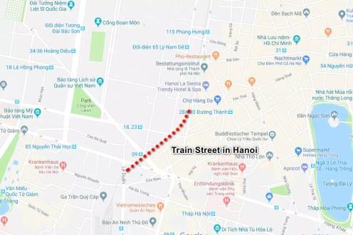 Train Street Hanoi Map