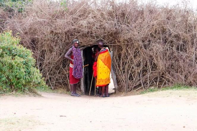 Eingang Masai Dorf