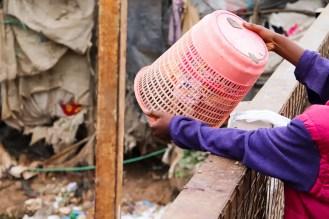 Müllentsorgung Mathare Slum Nairobi