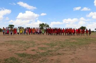 Willkommen Tanz Massai Dorf