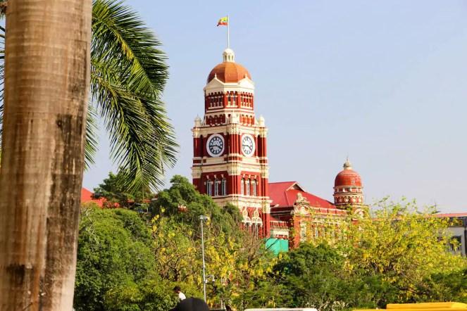 Gerichtsgebäude Yangon Kolonialgebäude