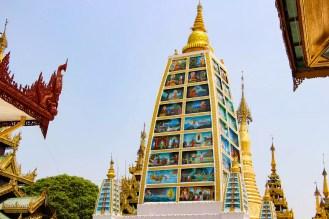 Mahabodhi Style Temple Shwedagon Pagoda