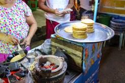 Burmesischer Reiskuchen Reispfannkuchen