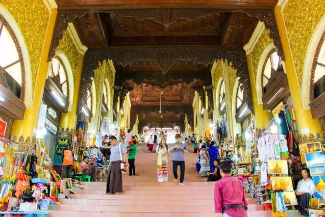 Treppen Shwedagon Pagode