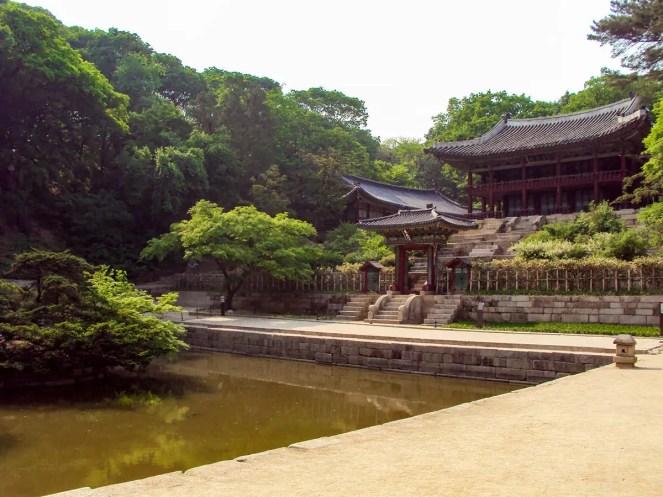 Buyongji Teich und Juhamnu Pavilion