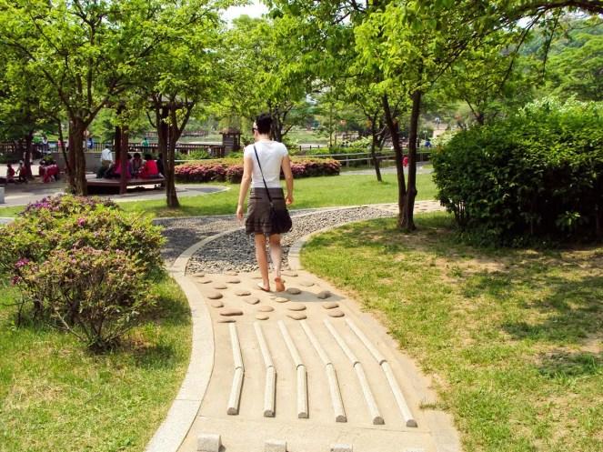 Fußmassage Pfad Boramae Park Seoul