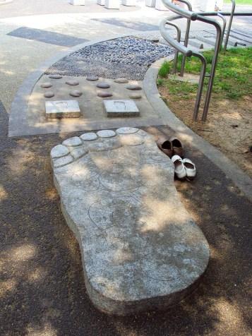 Fußreflexzonenmassage Pfad Boramae Park Seoul