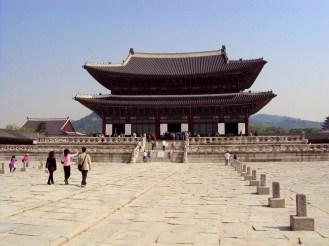 Geunjeongjeon Hall im Gyeongbokgung Palast in Seoul