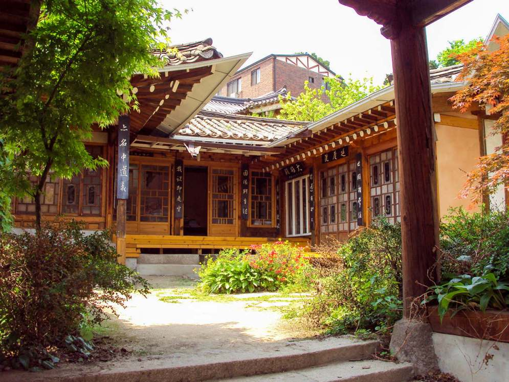 Traditionelles koreanisches Hanok Haus