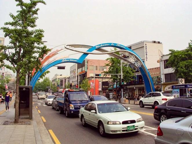 Itaewon in Seoul