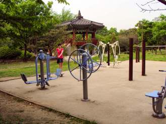 Outdoor Fitnesspark Yeouido Park Seoul