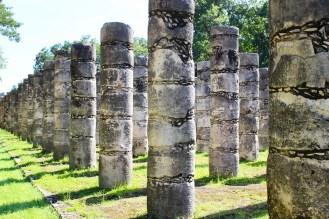 Halle der 1000 Säulen in Chichen Itza