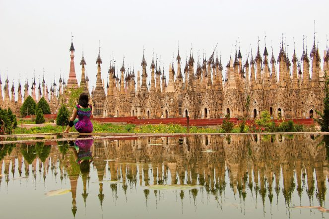 Kakku Pagodenfeld in Myanmar