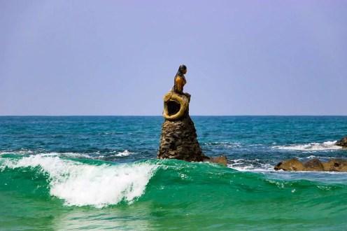 Meerjungfrau-Statue auf Ngapali Beach