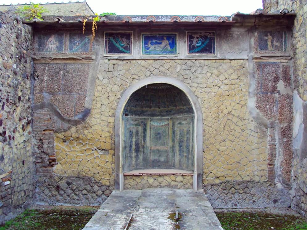 Innenhof eines Hauses in Herculaneum
