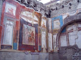 Wandmalerei in Herculaneum