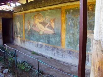Wandmalerei in Pompei