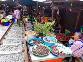 Eisenbahnmarkt Samut Songkhram